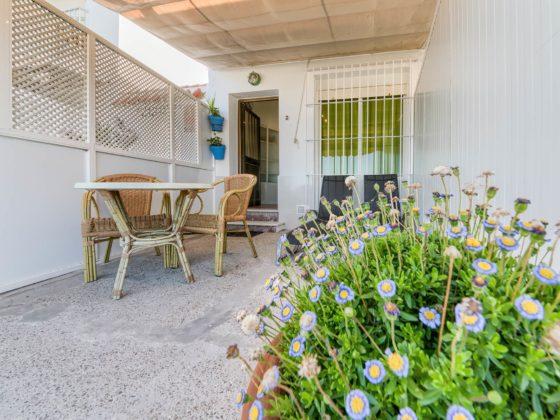 Apartamento 2 - Terraza - Apartamentos Patio Andaluz - Playa de La Fontanilla (Conil)