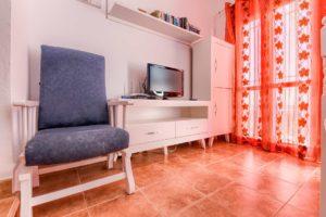 Apartamento Huerto - Butaca y TV - Apartamentos Patio Andaluz - Playa de La Fontanilla (Conil)